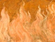 Pittura della fiamma Immagini Stock