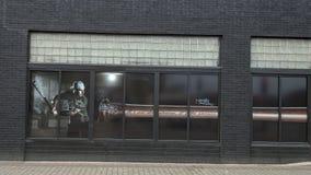 Pittura della finestra in Ellum profondo che caratterizza la Triple Crown Winnter Brent Rooker di conferenza di Southweastern immagini stock libere da diritti