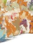 Pittura della foglia di Autunm Fotografia Stock