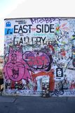 Pittura della galleria del lato est, Berlino, Germania fotografia stock libera da diritti