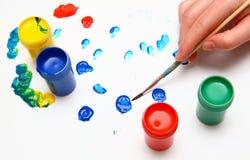 Pittura della mano Fotografie Stock Libere da Diritti