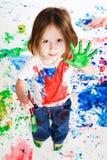 Pittura della mano Fotografie Stock