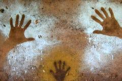 Pittura della mano - arte aborigena della roccia, Kakadu Fotografie Stock Libere da Diritti