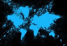 Pittura della mappa di mondo Fotografia Stock Libera da Diritti