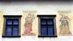 Pittura della parete Immagine Stock