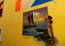 Pittura della parete Fotografia Stock Libera da Diritti