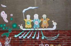 Pittura della parete Immagini Stock