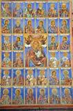 Pittura della parete alla chiesa del monastero di Rila Fotografie Stock