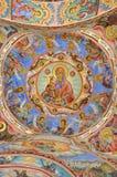 Pittura della parete alla chiesa del monastero di Rila Immagini Stock Libere da Diritti
