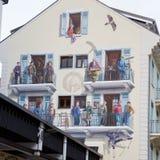 Pittura della parete a Chamonix-Mont-Blanc, alpi francesi Fotografia Stock Libera da Diritti
