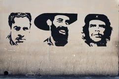 Pittura della parete degli eroi cubani di rivoluzione Immagine Stock Libera da Diritti