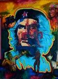 Pittura della parete di Che Guevara Immagini Stock