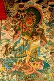 Pittura della parete in tempio buddista Fotografie Stock Libere da Diritti