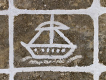 Pittura della pavimentazione Fotografia Stock
