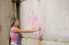 Pittura della ragazza fotografia stock libera da diritti