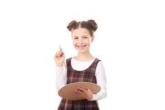 Pittura della ragazza della scuola Fotografia Stock Libera da Diritti