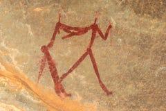 Pittura della roccia dei boscimani Immagine Stock Libera da Diritti