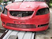 Pittura della sbucciatura dell'automobile Fotografia Stock
