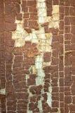 Pittura della sbucciatura e scheggiata sulla vecchia porta di legno Fotografia Stock Libera da Diritti