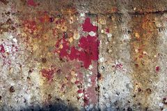Pittura della sbucciatura su fondo d'acciaio Fotografia Stock Libera da Diritti