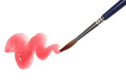 Pittura della spazzola sopra il bianco Fotografia Stock Libera da Diritti