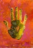 Pittura della stampa della mano Immagini Stock
