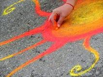 Pittura della via Immagini Stock