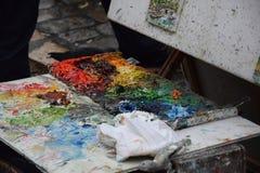 Pittura della via Immagine Stock