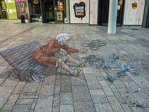 Pittura della via in 3D Fotografia Stock Libera da Diritti