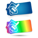 Pittura delle case Fotografia Stock Libera da Diritti