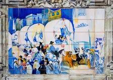 Pittura delle mattonelle Fotografie Stock Libere da Diritti