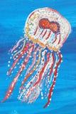 Pittura delle meduse Fotografia Stock Libera da Diritti