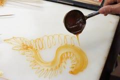 Pittura dello zucchero Immagine Stock