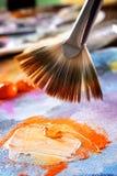 Pittura di acrilici di Aristic Fotografia Stock