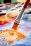 Pittura di acrilici di Aristic Fotografia Stock Libera da Diritti