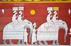 Pittura di arte all'entrata al tempiale illustrazione di stock