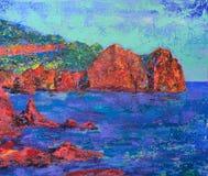 Pittura di arte astratta Fotografia Stock