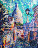 Pittura di arte astratta Immagine Stock