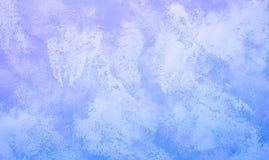 Pittura di astrattismo nel colore blu di pendenza per il fondo di struttura fotografia stock libera da diritti