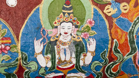 Pittura di bodhisattva del Tibet Fotografia Stock Libera da Diritti