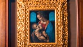 Pittura di capolavoro di Madonna con il bambino archivi video