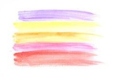 Pittura di colore di acqua su carta Immagini Stock