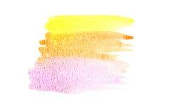 Pittura di colore di acqua su carta Immagine Stock Libera da Diritti
