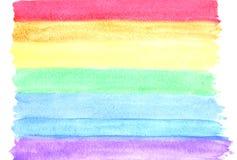 Pittura di colore di acqua su carta Immagine Stock