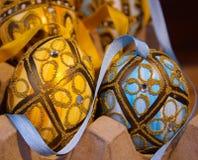 pittura di cristallo di arte di scintillio dell'uovo di Pasqua Immagini Stock