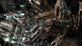 Pittura di Digital del fondo di superficie metallico del modello di struttura della macchina dell'industria pesante dell'estratto illustrazione vettoriale