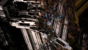 Pittura di Digital del fondo di superficie metallico del modello di struttura della macchina dell'industria pesante dell'estratto royalty illustrazione gratis