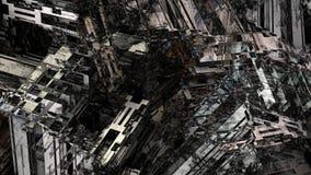 Pittura di Digital del fondo di superficie metallico del modello di struttura della macchina dell'industria pesante dell'estratto illustrazione di stock
