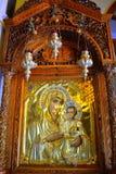 Pittura di Gesù del bambino di vergine Maria Immagini Stock