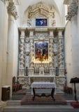 Pittura di Gesù superiore ad uno degli altari, Di Santa Croce della basilica Fotografie Stock Libere da Diritti